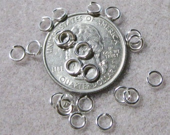 Bright Silver Plated Heavy 19 Gauge 5mm Jump Rings 637