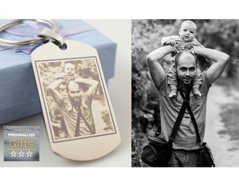 Boyfriend Christmas Gift for Boyfriend // Keychain with photo // Gift for him // Birthday gift // photo engraved