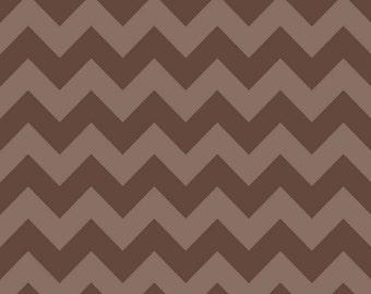 Brown Tone on Tone Medium Chevron by Riley Blake Designs - Quilting Cotton Fabric - choose your cut