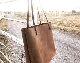 Large Chocolate Brown Tote