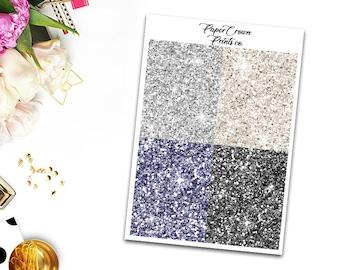 WISE Glitter Headers/Planner Stickers for Erin Condren Planner/Happy Planner/Personal Planner/Tn headers kit/Functional Headers