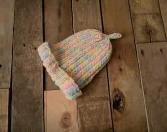 hand knitted newborn hat