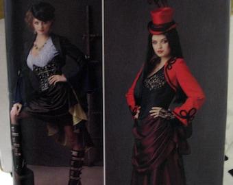 Simplicity S0788 Goth Steampunk costume pattern, womens size 14-16-18-20-22, UNCUT