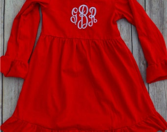 Monogrammed Ruffle Dress