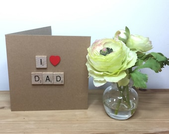Fathers Day card,  Fathers Day, card for Dad, Fab Dad, I love Dad #1Dad