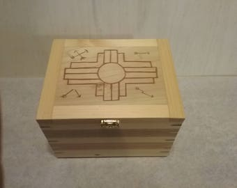 Wooden hand made Keepsake box