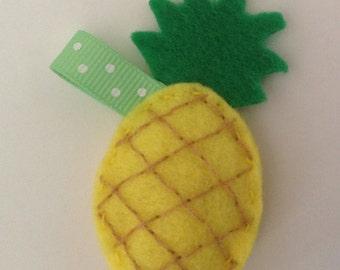 Tiny Stuffed Pineapple Charm