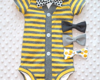 Baby Boy Cardigan Bow Tie Set, Baby Suit, Smash Cake Outfit, Baby Boy Outfit, Baby Boy Clothes, Preppy Baby Boy Outfit