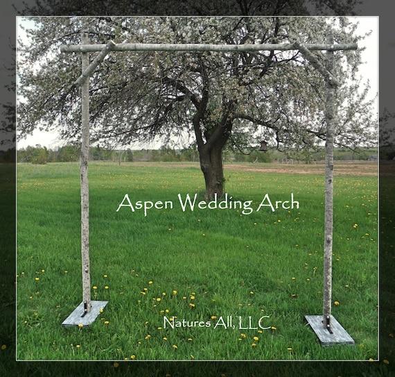 Diy Rustic Wedding Arch: Aspen Wedding Arch/Aspen Arbor/Rustic Aspen Wedding