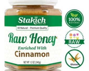 Cinnamon Enriched Raw Honey