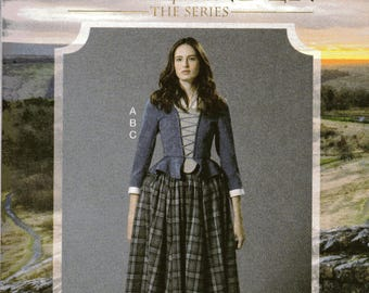 OUTLANDER The Series McCall's Costume Pattern 7735  TOP SKIRT & Scarf Misses Sizes 6 8 10 12 14
