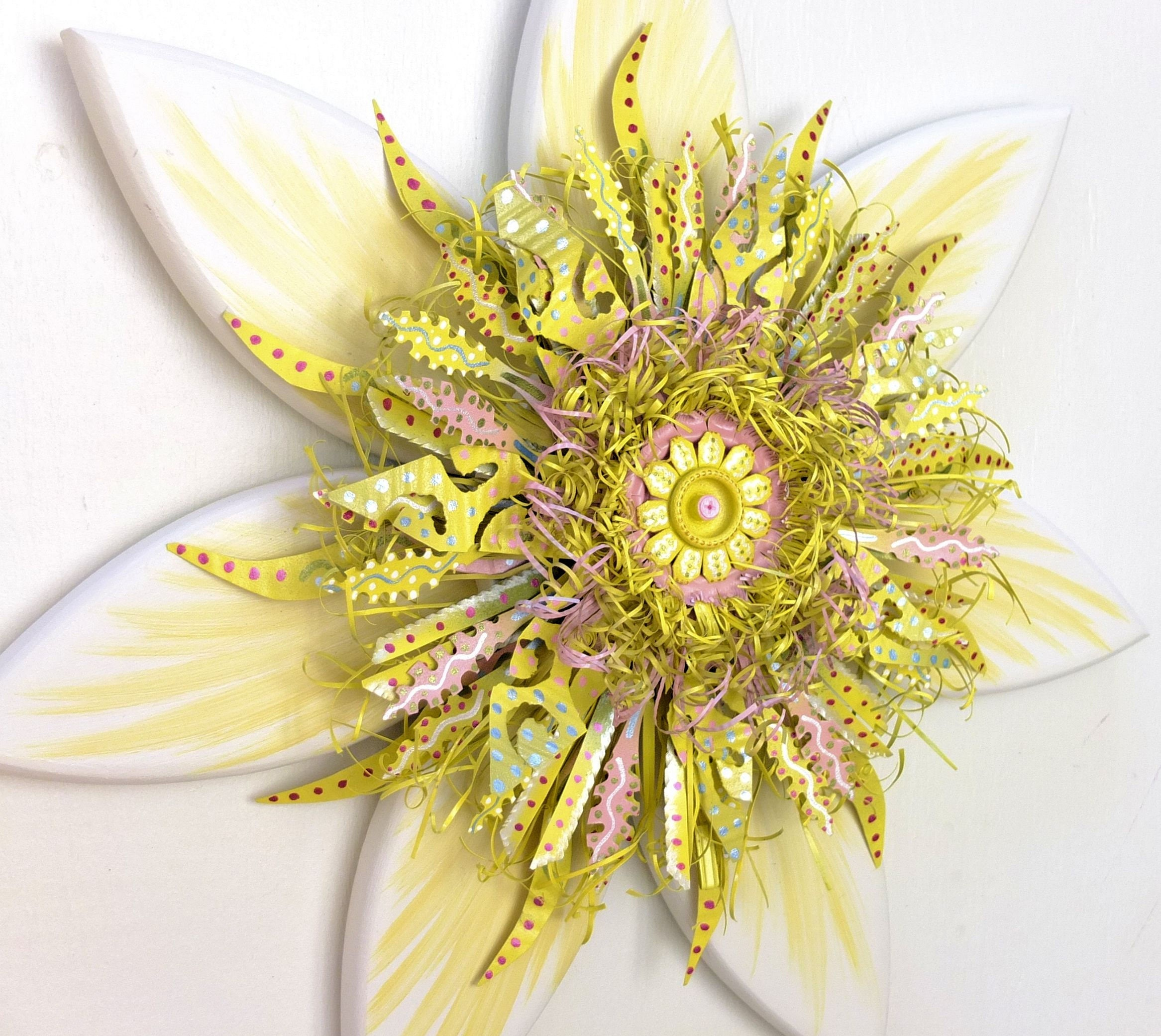 Outstanding Metal Flowers Wall Decor Composition - The Wall Art ...