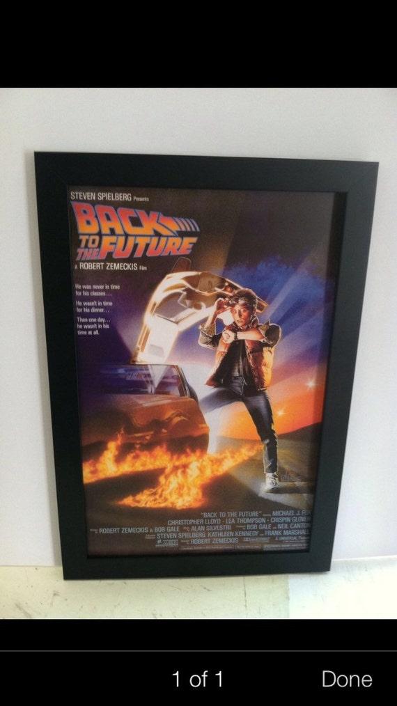 Cartel de la película enmarcada de Back To The Future 11 x 17