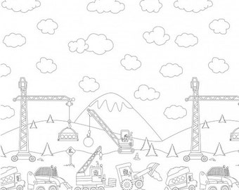 In stock Color me Construction Zone Border by Hayley Crouse