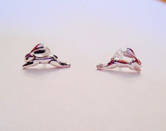 Hare Sterling Silver Stud Earrings