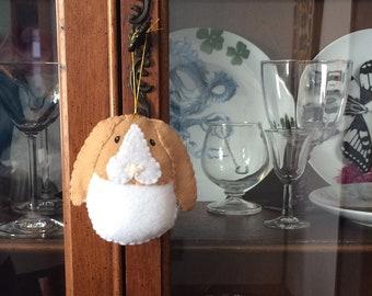 tan dutch bunny ornament, lop ear bunny, flop ear, Easter  bunny, Eastter ornament, Christmas ornament, hutch decoration, easter basket