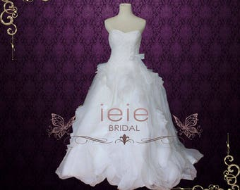 Organza Ruffle Wedding Gown A lighter version of Diana