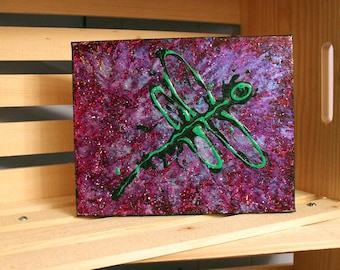 Original abstract dragonfly painting