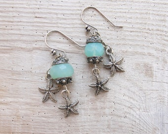 Starfish Chalcedony Earrings