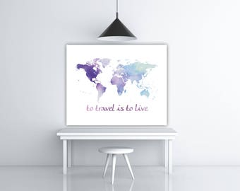 Travel decor world poster green and white travel world map travel decor travel the world map art world poster wanderlust world travel gumiabroncs Choice Image