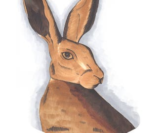 Hare Illustration Giclee Print