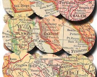 Oregon circle map Etsy