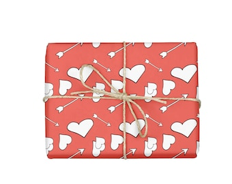 Wrapping Paper, Valentine's Day Wrapping Paper, Sheet Wrapping Paper, Valentine's Day Gift Wrap, Hearts Wrapping Paper, Wrapping Paper Sheet