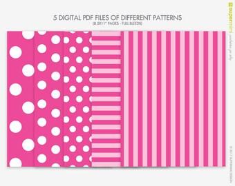 Victorias secret etsy pink love pink stripes white polka dots victoria secret themed backgrounds instant digital download voltagebd Choice Image