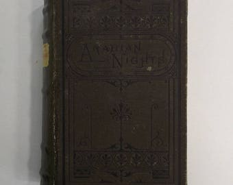 The Thousand and One Nights, Arabian Nights Entertainments, 1880s Edition, illustrated Wood Engravings, Porter Coates, Fantasy, Vintage Book