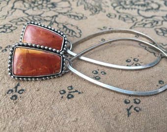 Sunset Teardrop Hoops