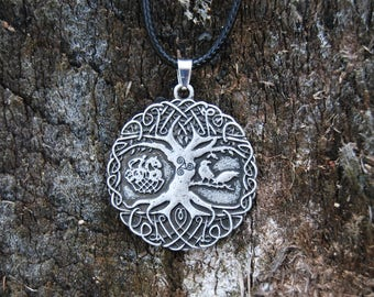 Yggdrasil, Odin, Huginn & Muninn Necklace