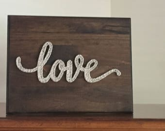 Custom Made to Order LOVE String Art