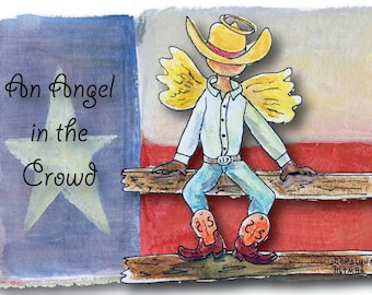 An Angel in the Crowd   Angel Note Cards   Cowboy Angel Note Cards   10 Pack