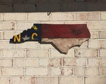 Barn Wood North Carolina State Flag