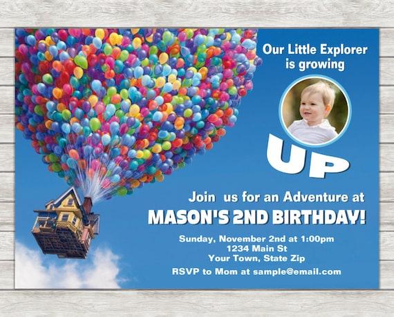 Disney Up Birthday Invitation