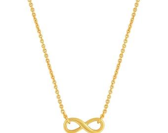 Infinity Necklace. Infinity Pendant Necklace Gold