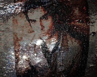 reversible sequin cushion stereophonics Kelly jones cover