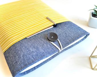 "Mustard Yellow Stripes Kindle Case, Amazon Fire 7"", Kindle Fire HD 8, Kindle Paperwhite Sleeve, Kindle Oasis Case"
