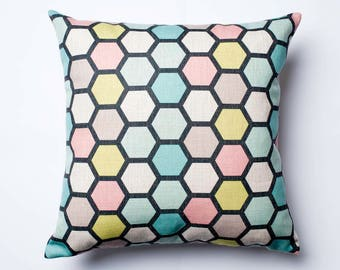 Honeycomb coloured cushion cover