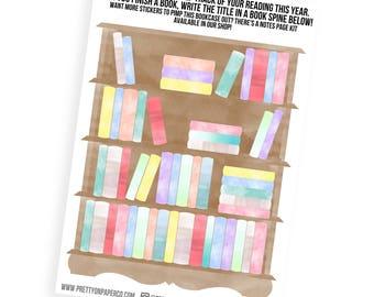 Bookcase (Giant Sticker!)- Planner Stickers