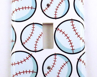 Light Switch Cover Wall Decor Baseball Boys Room Switch Plate in Home Run  (160S)
