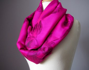 Hot Pink Scarf, Pashmina shawl, Valentines Scarf, Womens Scarf, Spring Scarf Gift for Her, Wife Gift Girlfriend gift