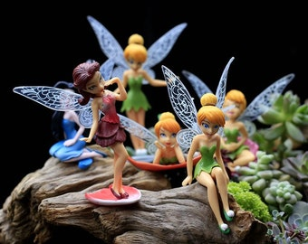 6pc Mini Fairies Mini Garden  Fairy Garden Accessories  Miniature Fairies Figure Succulent Terrarium Outdoor Suppliers