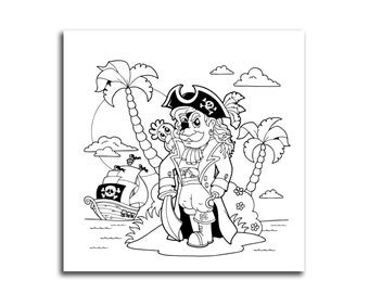 Pirates Life Coloring Canvas Kids