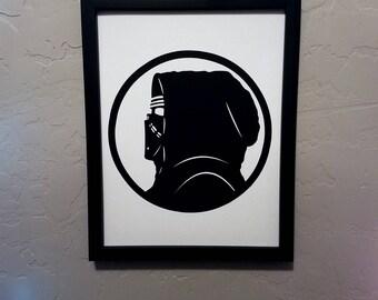 Kylo Ren (Star Wars) | Papercut Silhouette