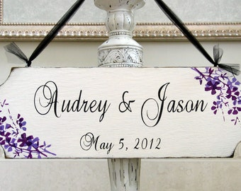 PERSONALIZED rustic wedding sign custom bridal shabby cottage chic hand painted wood wedding sign