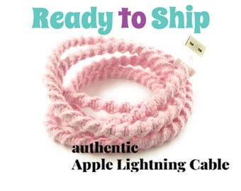 iPhone Lightning Charger Cable, iPhone EarPods, iPhone EarPods plus Lightning Cable Gift Set You Choose - CRYSTAL by Missy and Joy