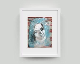 Portrait, painting 10/8 inch (25.4/20.3 cm)