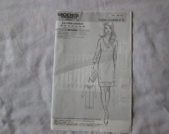 1 notebook of sewing patterns and work to realize a gorgeous stretch dress easy to make parts patterns very well detailed