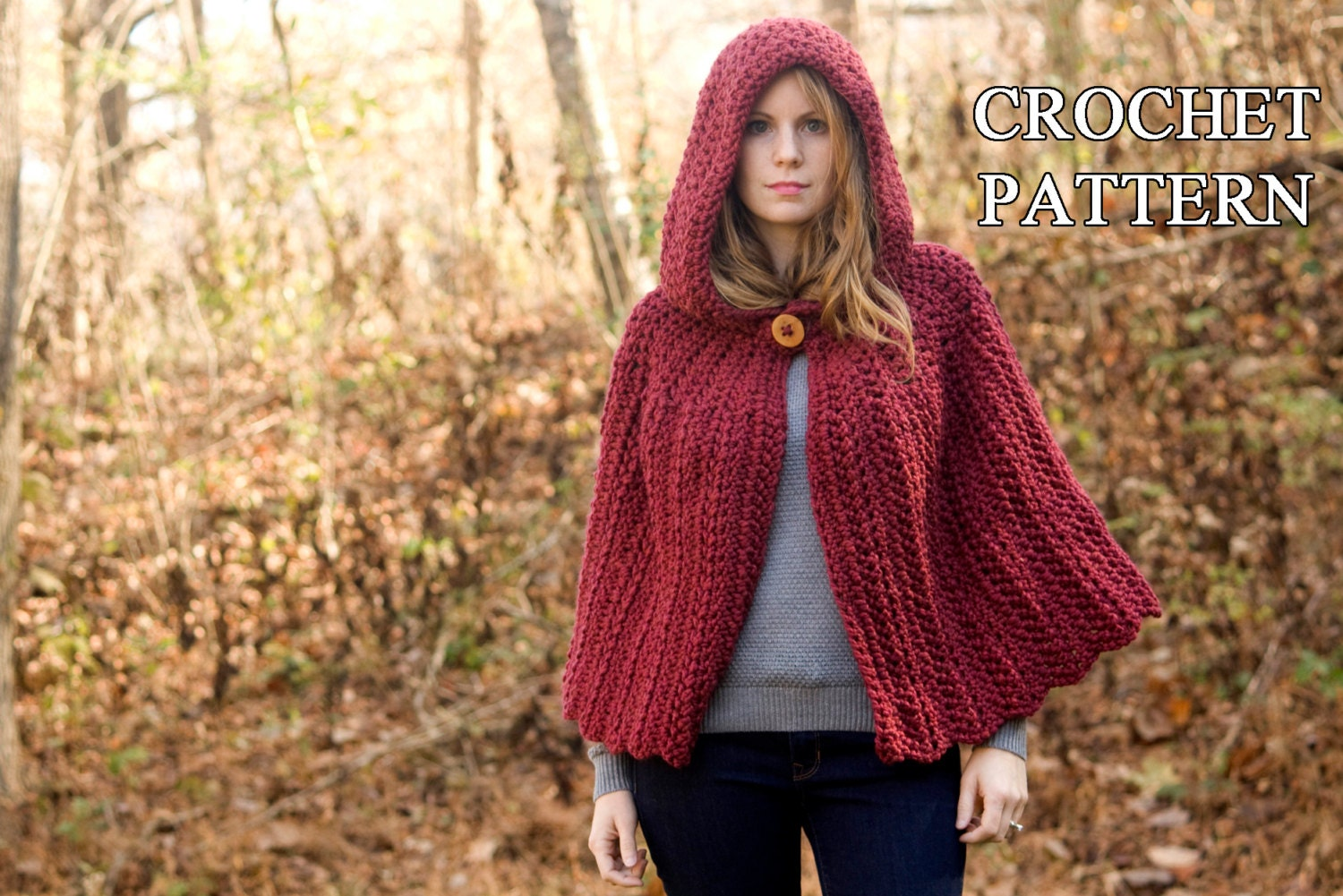 Crochet pattern hooded cape pattern crochet cloak pattern zoom bankloansurffo Choice Image